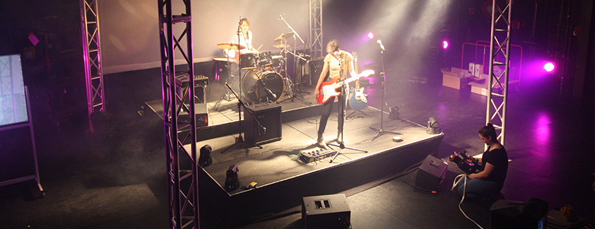 Diploma Live Production student filming a live music event